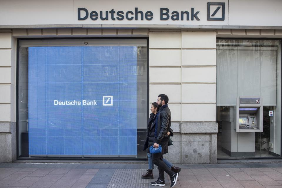 German investment bank and financial services Deutsche Bank...