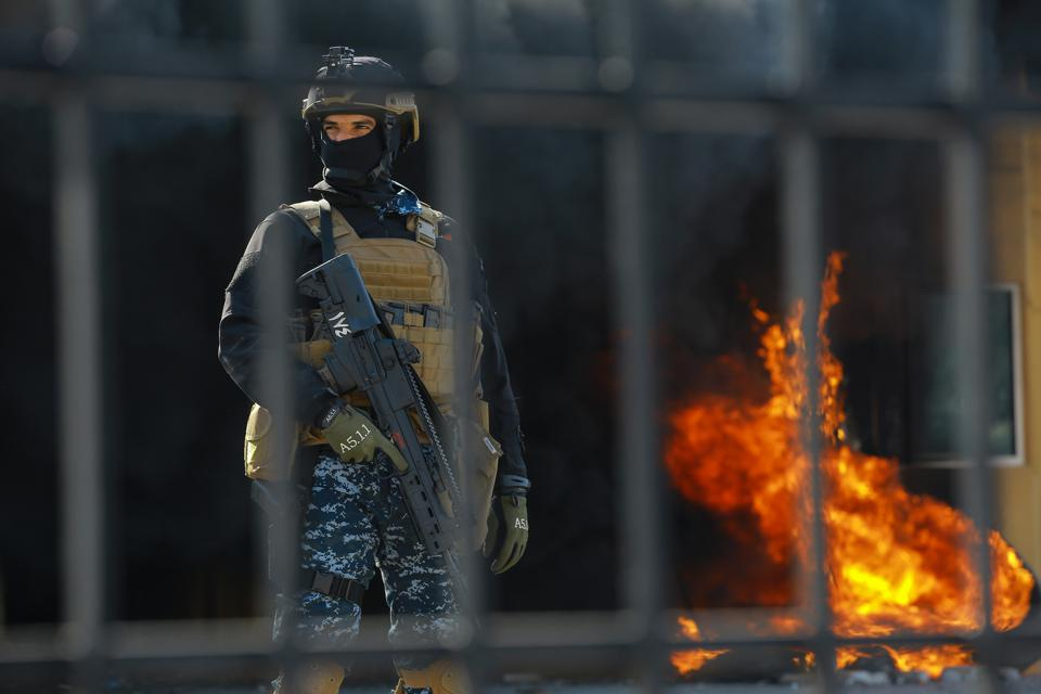 Iraqi protesters storm US embassy in Baghdad after deadly strikes