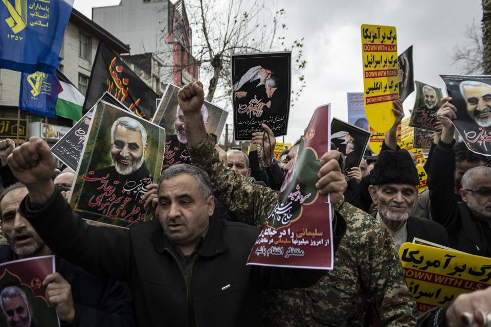 Iranian protests against U.S. killing of Quds General Qassem Suleimani.