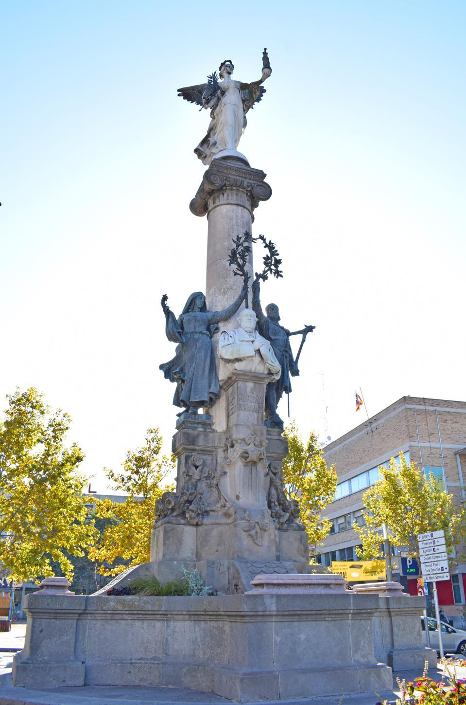 Monument to Manuel Mila and Fontanals in Vilafranca del Penedes Barcelona Spain