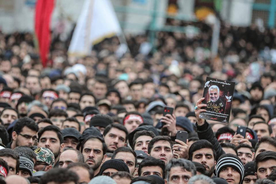 Mourning rally for top Iranian general Soleimani in Tehran