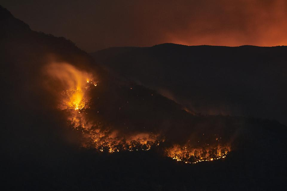 Scattered bushfires on December 4, near Katoomba, Australia.