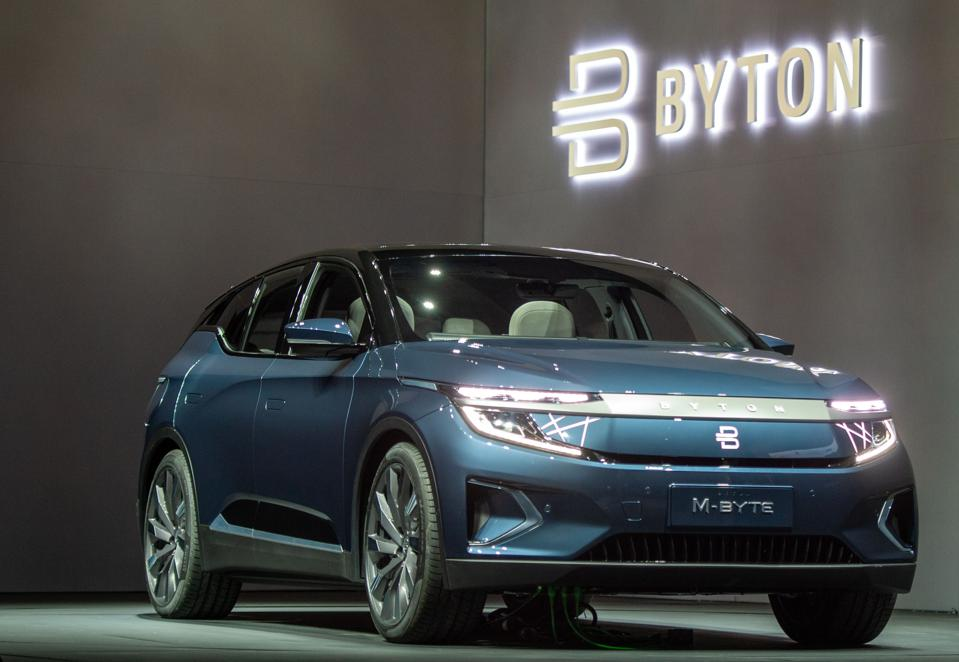 The Byton M-Byte. Byton is the biggest Chinese EV maker to strike trouble.