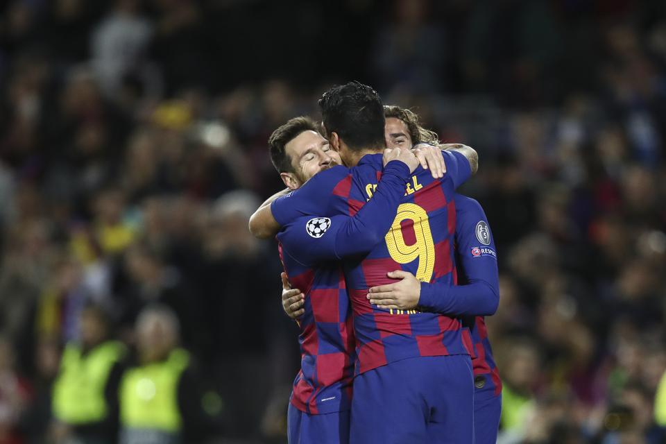 FC Barcelona's Messi-Suarez-Griezmann Trident Revving Up For El Clasico