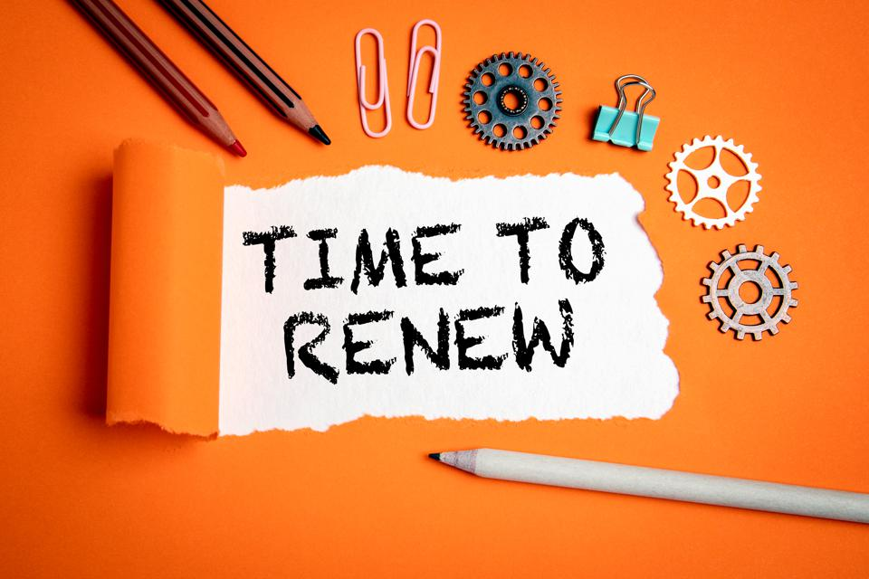 Time to renew. Businesses, strategies, plans and goals concept