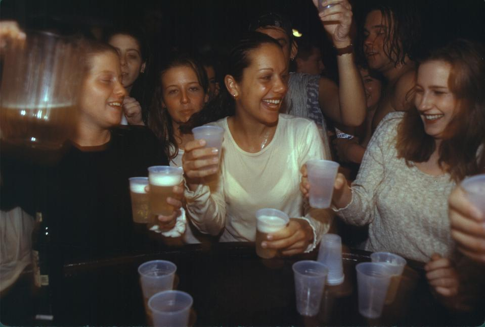 College fraternity drinking party