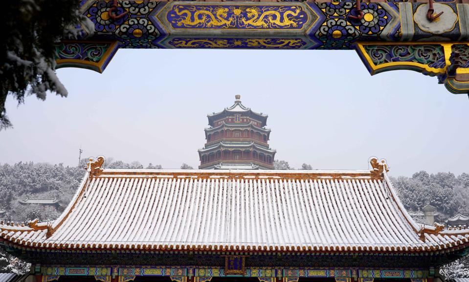 CHINA-BEIJING-SUMMER PALACE-SNOW SCENERY (CN)