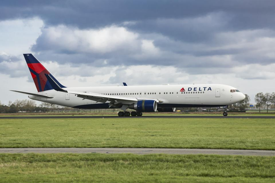 Delta Air Lines Boeing 767 aircraft at Amsterdam Schiphol...