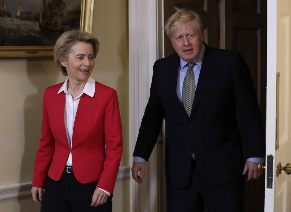 Boris Johnson Meets EU Commission President Ursula von der Leyen