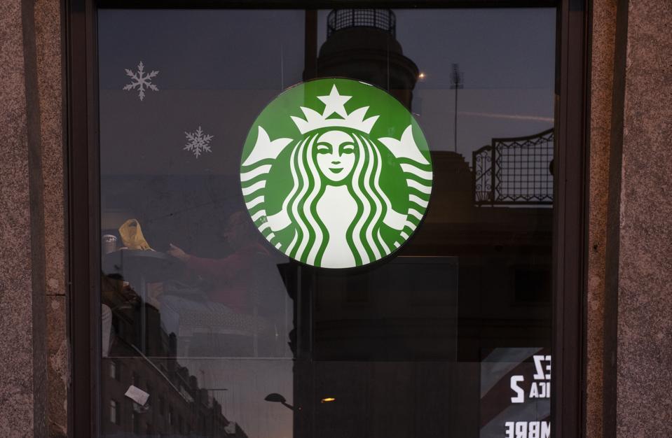 American multinational chain, Starbucks Coffee store seen in...