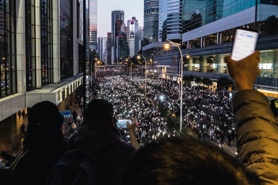 Protesty antyrządowe trwają w Hongkongu