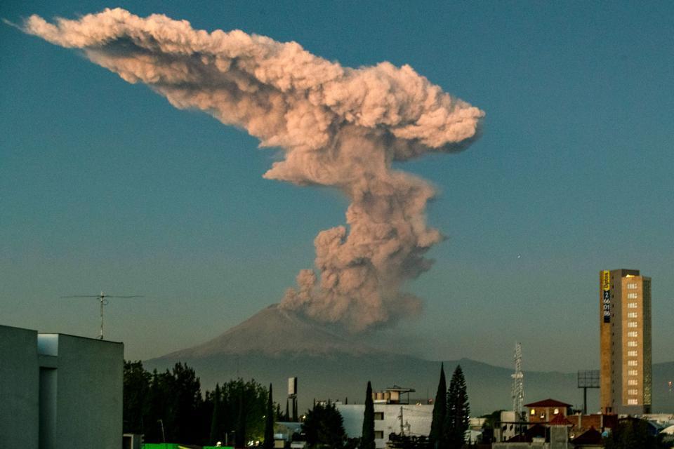 Volcanic eruption.