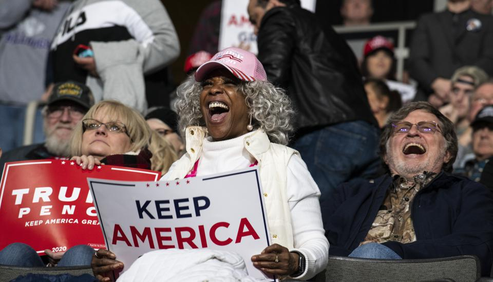 President Donald Trump Holds ″Keep America Great″ Campaign Rally In Toledo, Ohio