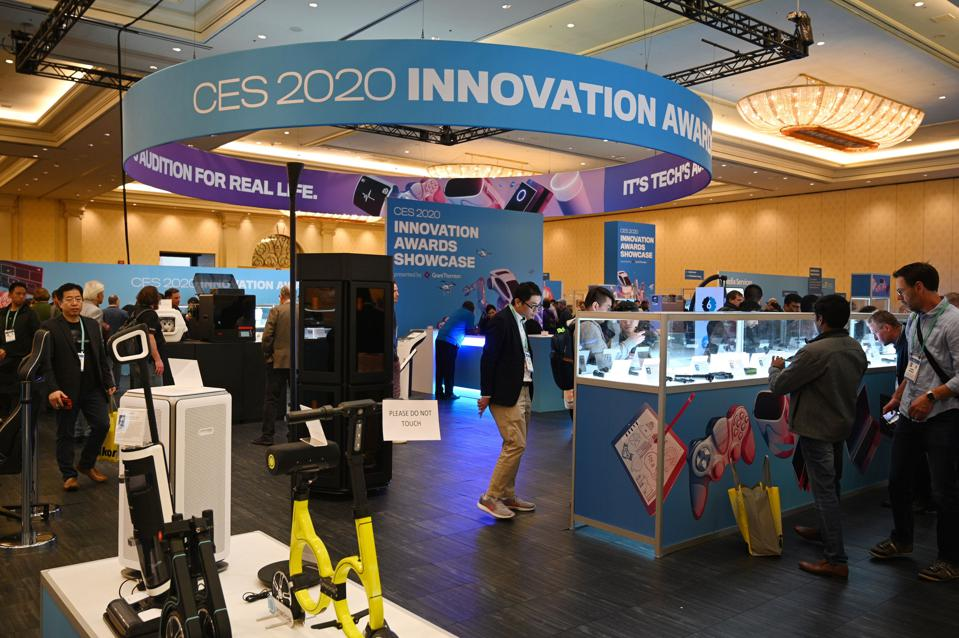 CES 2020 products on display