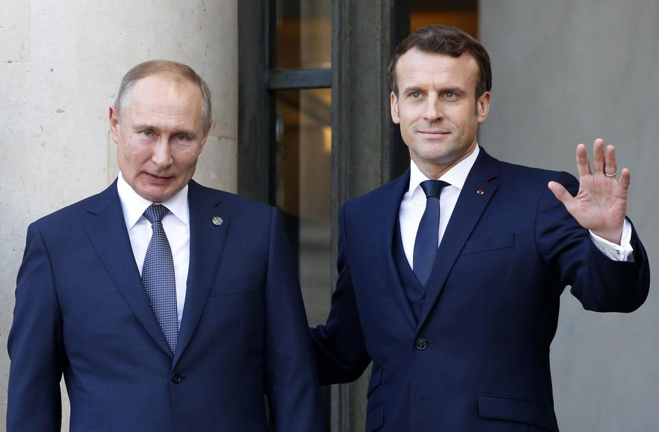 French President Emmanuel Macron Hosts The ″Normandy Format″ Summit At Elysee Palace In Paris