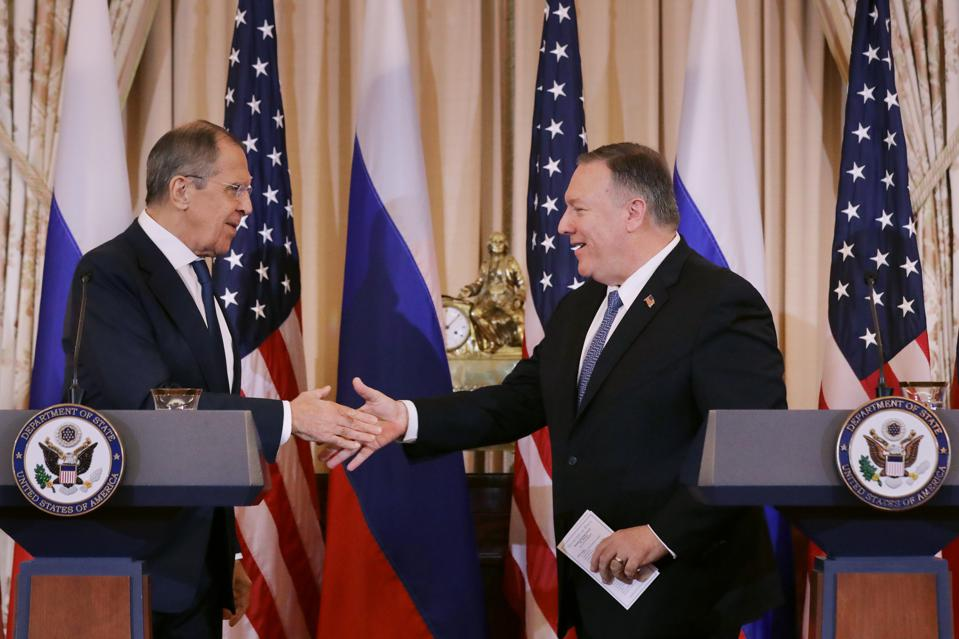 Secretary Of State Mike Pompeo Meets With Russian Foreign Minister Lavrov