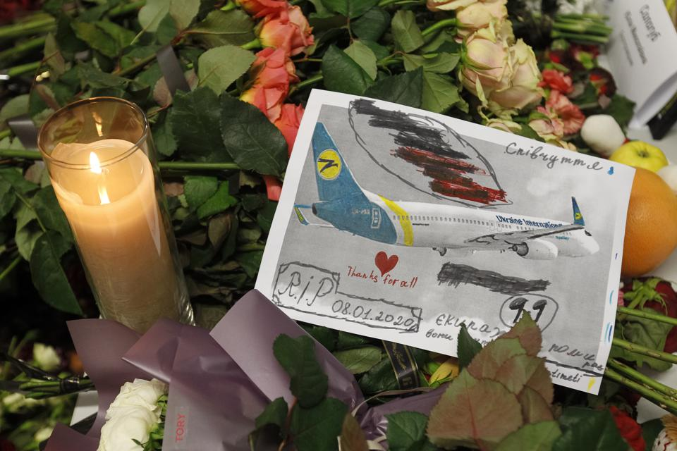 A message and drawing for the victims of flight PS 752...