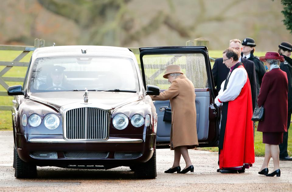 Queen Attends Sunday Church in Sandringham