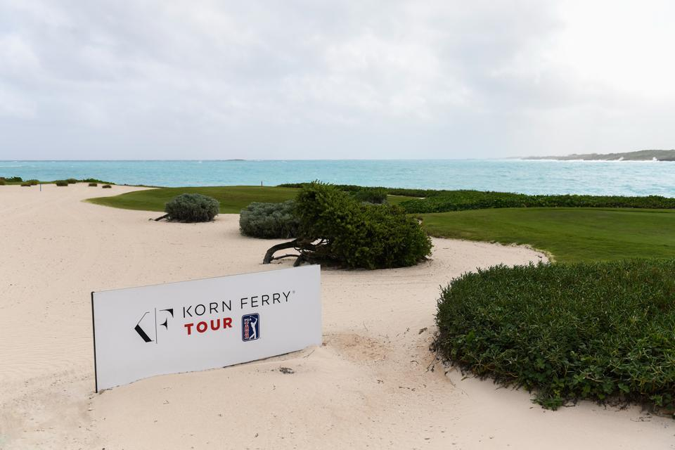 Coastline back nine at Greg Norman's course at Sandals Emerald Bay in Great Exuma, Bahamas