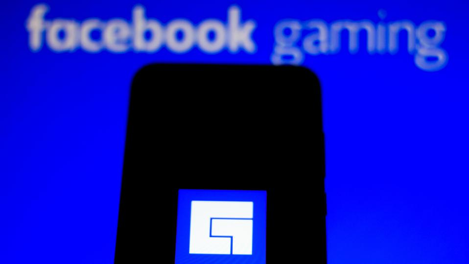 In this photo illustration the Facebook Gaming logo is seen...