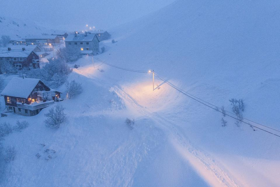 Winter Storms Cause Travel Chaos In Northern Norway