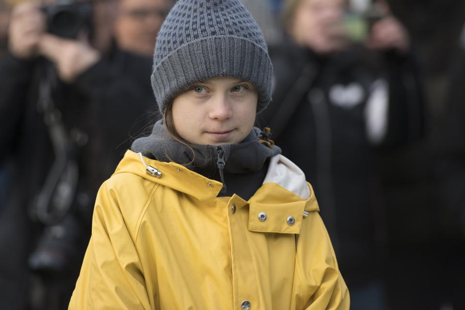 Greta Thunberg Attends Fridays For Future Strike In Turin...