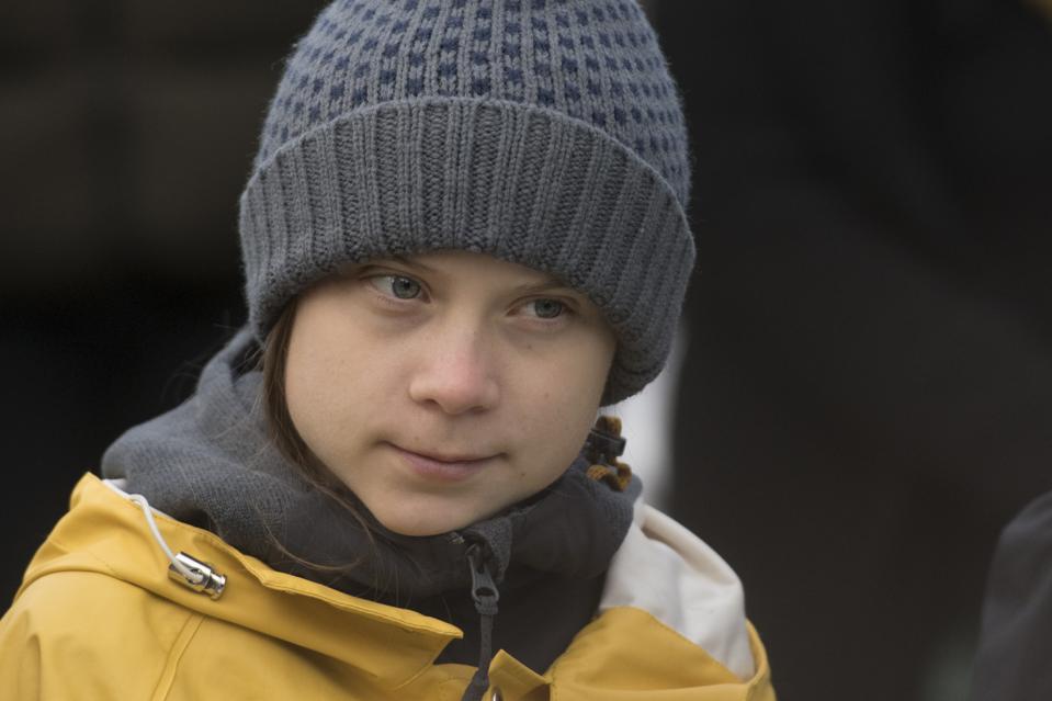 Greta Thunberg Attends Fridays For Future Strike In Turin...