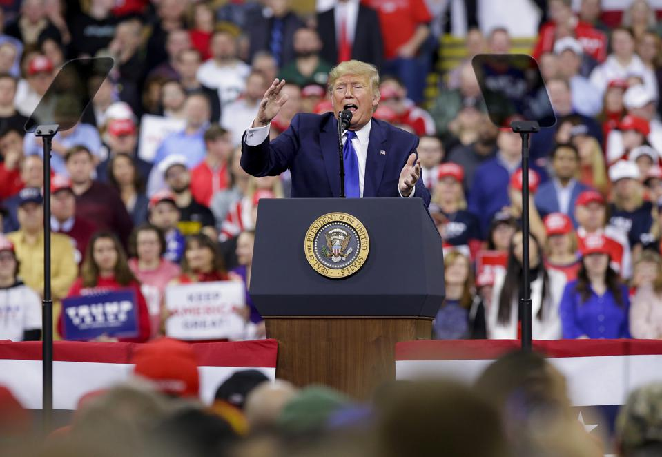 President Donald Trump Rallies His Supporters At Campaign Stop In Wisconsin