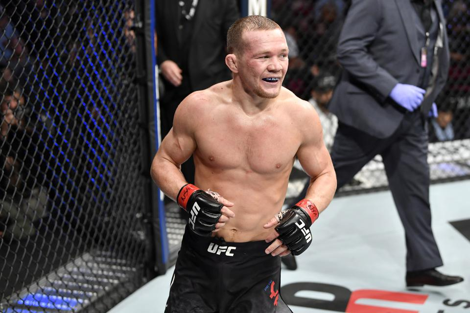 Petr Yan meets Jose Aldo on the UFC 251 pay-per-view card. The vacant bantamweight title is on the line.