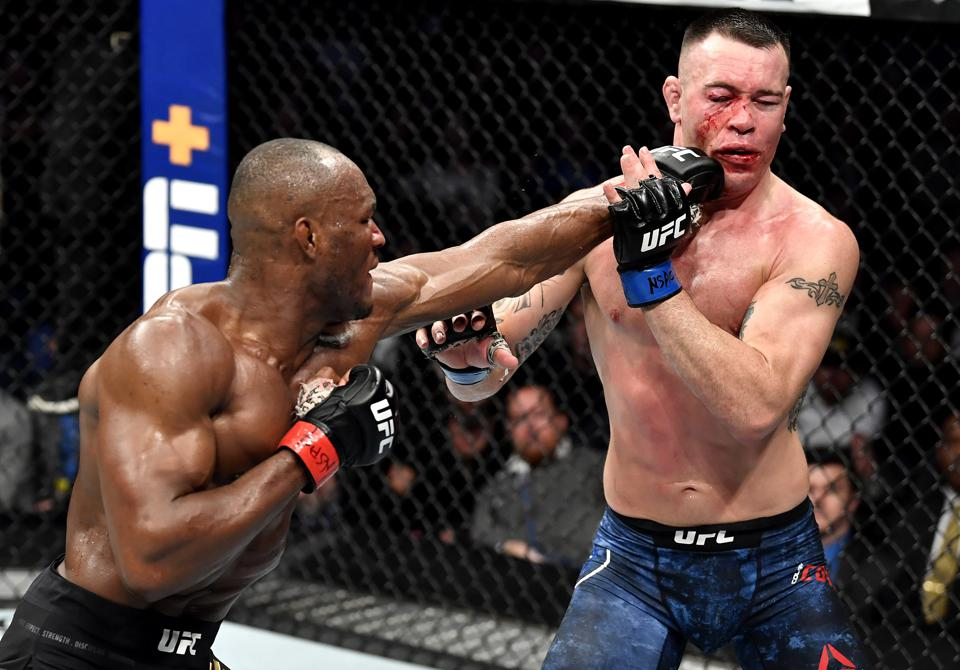 Kamaru Usman Breaks Colby Covington's Jaw In Defense of Title At UFC 245