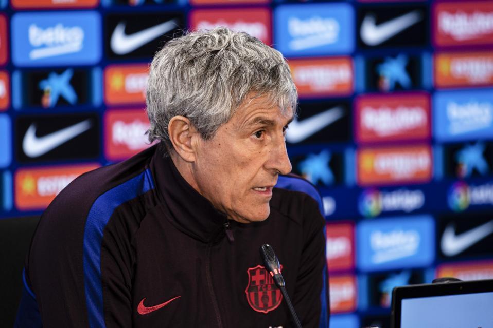 Quique Setien has spoken ahead of FC Barcelona's clash with Getafe on Saturday