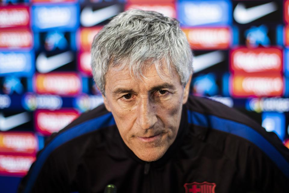 FC Barcelona Coach Setien Speaks On Valencia, Ibiza 'Big Scare,' Rodrigo And Griezmann As A '9'