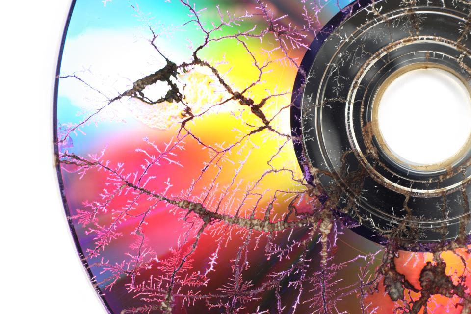 Microwaved CD-ROM image
