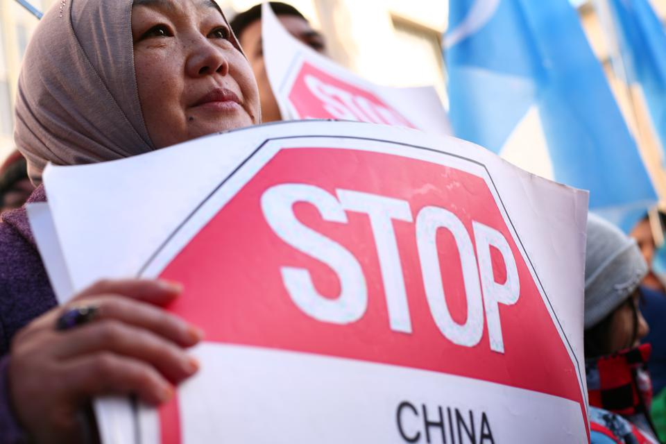 Rally Outside Chinese Embassy In London