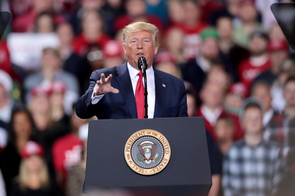 President Trump Holds ″Merry Christmas″ Campaign Rally In Michigan