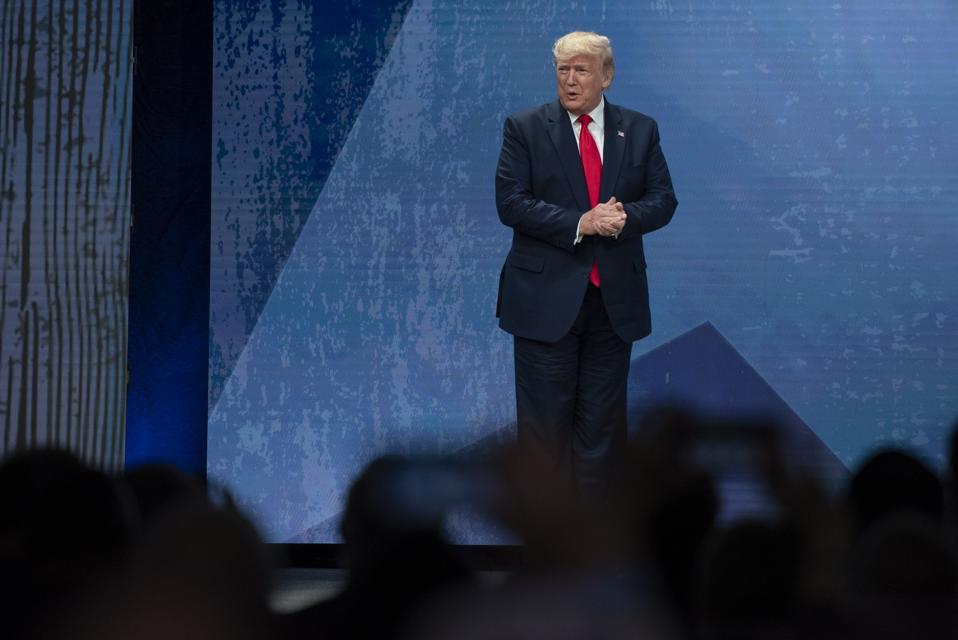 President Trump Addresses The American Farm Bureau Federation's Annual Convention