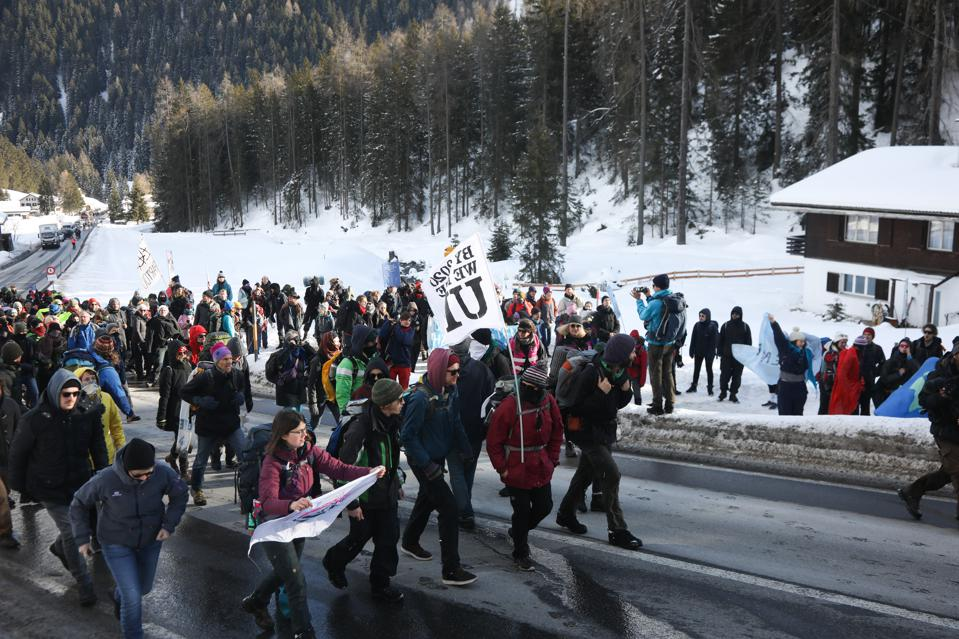 Strike WEF Climate March On Davos