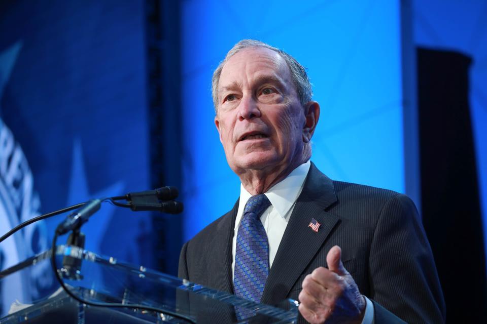 Former New York City mayor Michael Bloomberg...