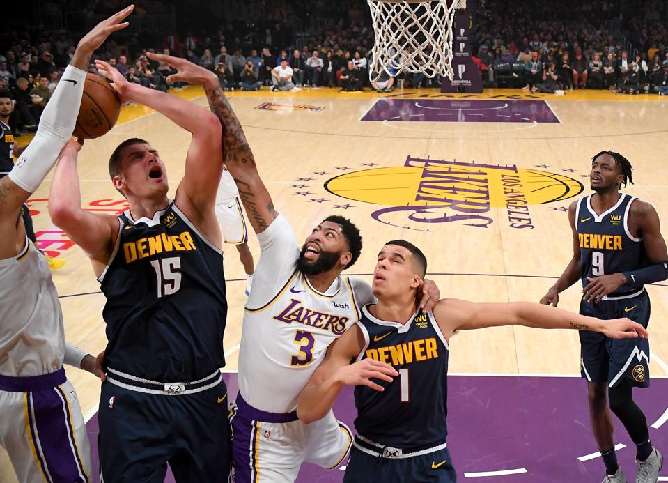 Denver Nuggets Los Angeles Lakers Nikola Jokic Michael Porter Jerami Grant Anthony Davis