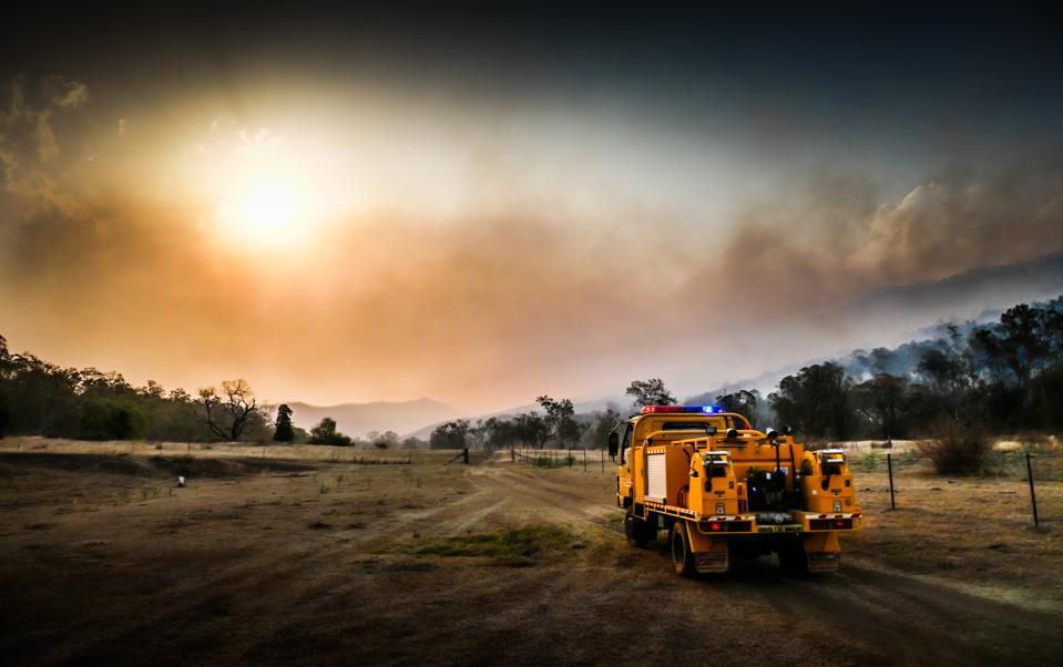 Australian Bushfire - Rural Fire Service vehicle