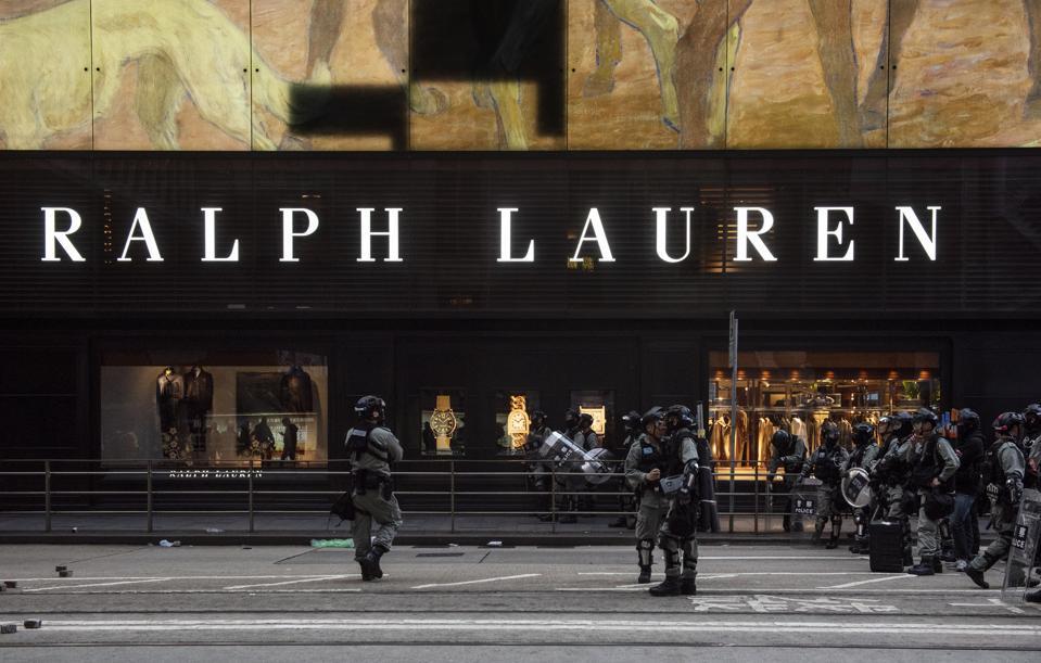 American fashion brand Ralph Lauren store seen in Hong Kong...