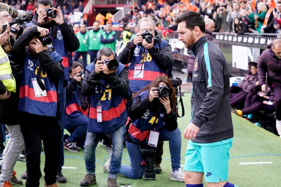 Valencia v FC Barcelona - La Liga Santander