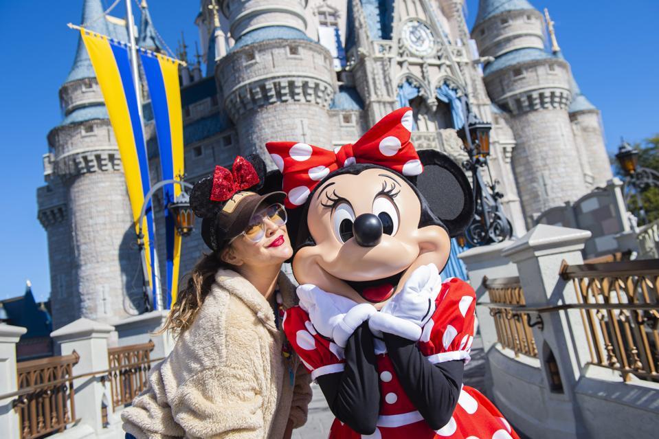 Drew Barrymore Visits Magic Kingdom At Walt Disney World