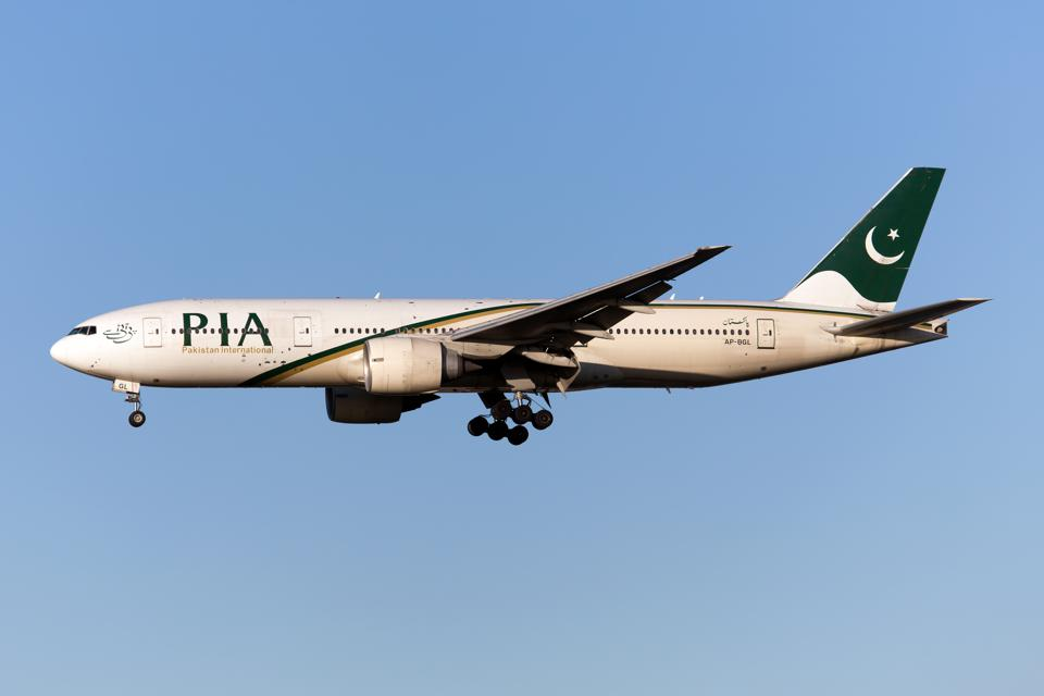 A Pakistan International Airlines (PIA) Boeing 777-200ER...