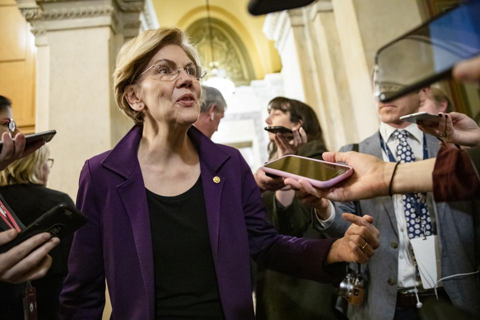 Elizabeth Warren at Senate Impeachment Trial Of President Trump