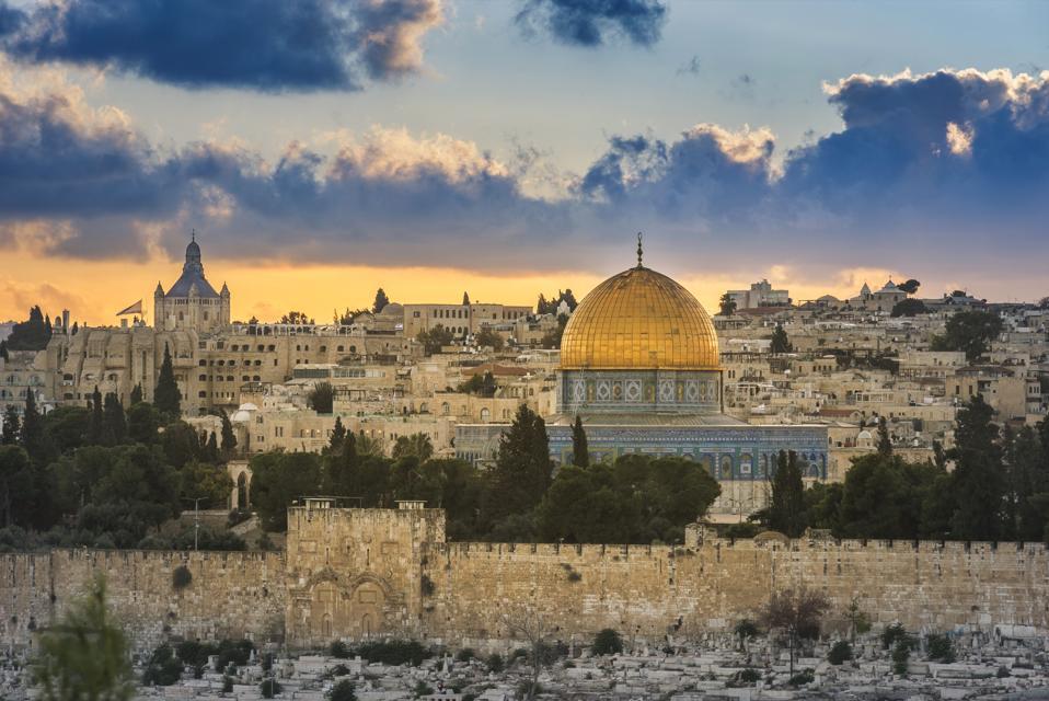 Jerusalem Old City at sunset