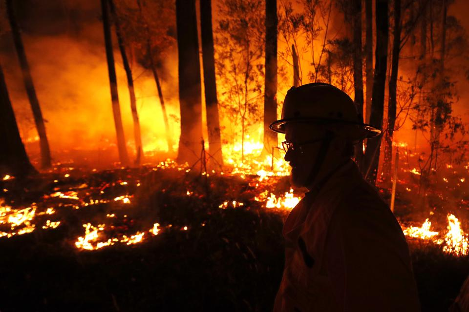 Crews monitor fires and begin back burns in East Gippsland on Thursday.