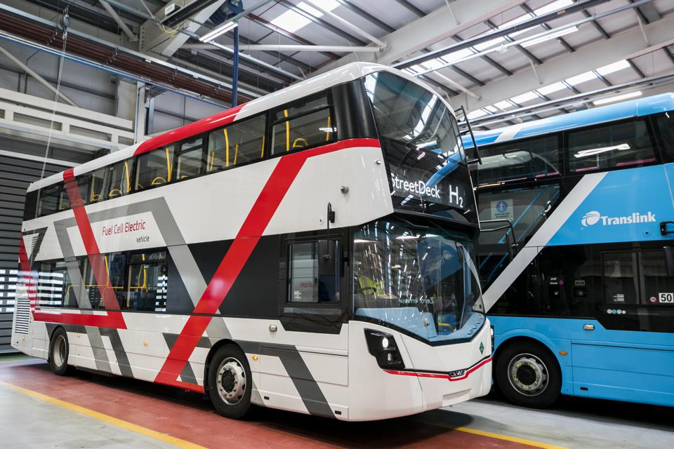 Northern Ireland's first hydrogen fuel cell bus.