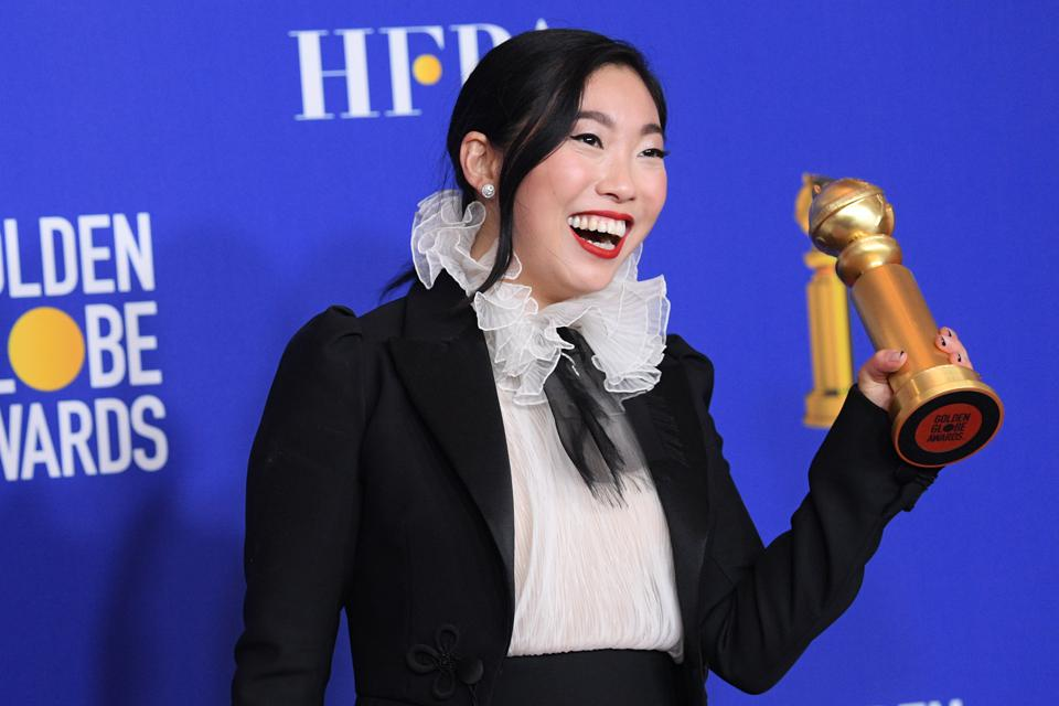 Awkwafina made history at the Golden Globes. She won for her stunning performance in 'The Farewell.' Photo by Daniele Venturelli/WireImage.