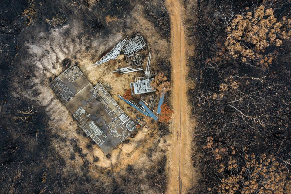 bush fire destruction